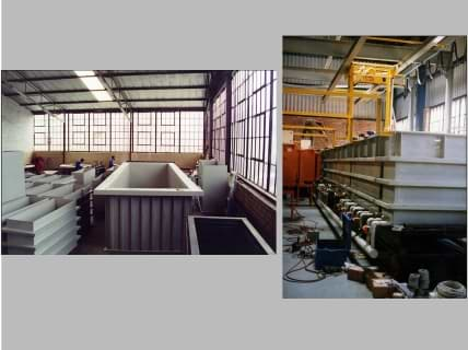 Polypropylene, Polyethylene and PVC tank manufacturing.