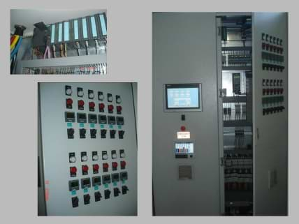 Siemens PLC and HMI control panels for NADCAP.