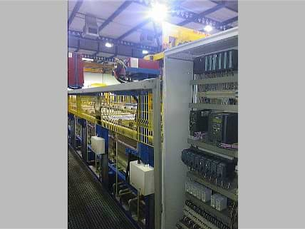 Electrical and process control cabinet for NADCAP plant