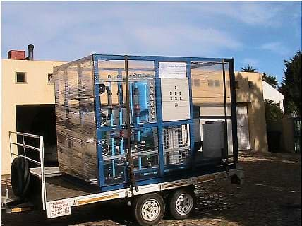 5000 l/h RO water plant  loaded for delivery.